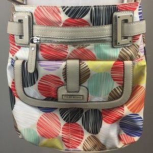 Tyler Rodan Crossbody Bag Polka Dot Print Vegan